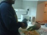 Evans in der Küche